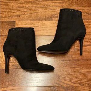 Dayton Faux Suede Stiletto Booties